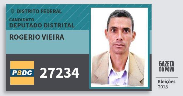 Santinho Rogerio Vieira 27234 (DC) Deputado Distrital | Distrito Federal | Eleições 2018