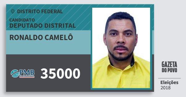 Santinho Ronaldo Camelô 35000 (PMB) Deputado Distrital | Distrito Federal | Eleições 2018