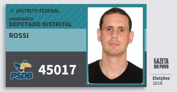 Santinho Rossi 45017 (PSDB) Deputado Distrital | Distrito Federal | Eleições 2018