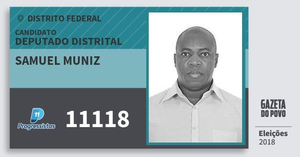 Santinho Samuel Muniz 11118 (PP) Deputado Distrital | Distrito Federal | Eleições 2018