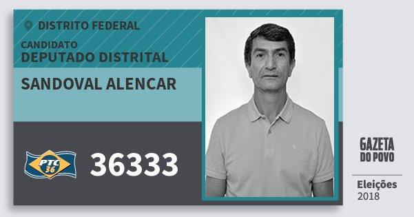 Santinho Sandoval Alencar 36333 (PTC) Deputado Distrital | Distrito Federal | Eleições 2018