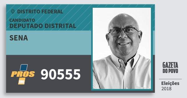 Santinho Sena 90555 (PROS) Deputado Distrital | Distrito Federal | Eleições 2018
