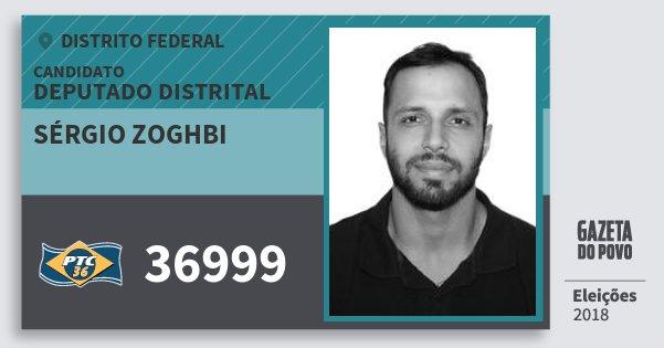 Santinho Sérgio Zoghbi 36999 (PTC) Deputado Distrital | Distrito Federal | Eleições 2018
