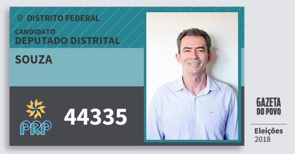 Santinho Souza 44335 (PRP) Deputado Distrital | Distrito Federal | Eleições 2018