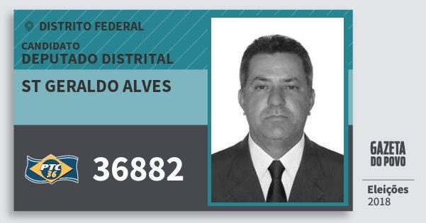 Santinho St Geraldo Alves 36882 (PTC) Deputado Distrital | Distrito Federal | Eleições 2018