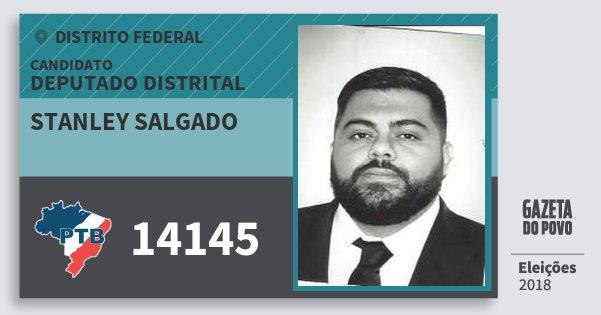 Santinho Stanley Salgado 14145 (PTB) Deputado Distrital | Distrito Federal | Eleições 2018
