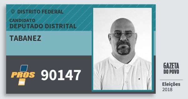 Santinho Tabanez 90147 (PROS) Deputado Distrital | Distrito Federal | Eleições 2018