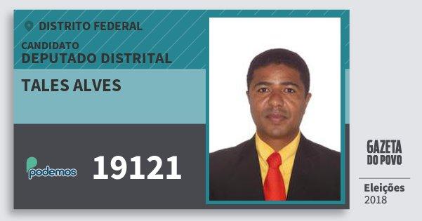 Santinho Tales Alves 19121 (PODE) Deputado Distrital | Distrito Federal | Eleições 2018