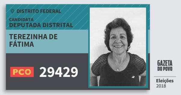 Santinho Terezinha de Fátima 29429 (PCO) Deputada Distrital | Distrito Federal | Eleições 2018