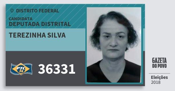 Santinho Terezinha Silva 36331 (PTC) Deputada Distrital | Distrito Federal | Eleições 2018