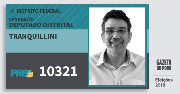 Santinho Tranquillini 10321 (PRB) Deputado Distrital | Distrito Federal | Eleições 2018