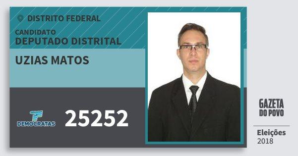 Santinho Uzias Matos 25252 (DEM) Deputado Distrital | Distrito Federal | Eleições 2018