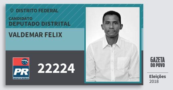Santinho Valdemar Felix 22224 (PR) Deputado Distrital | Distrito Federal | Eleições 2018
