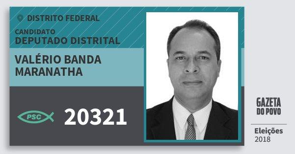 Santinho Valério Banda Maranatha 20321 (PSC) Deputado Distrital | Distrito Federal | Eleições 2018