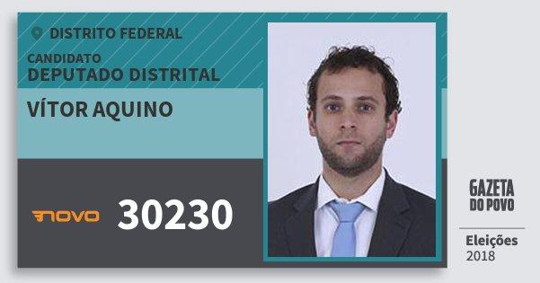 Santinho Vítor Aquino 30230 (NOVO) Deputado Distrital | Distrito Federal | Eleições 2018