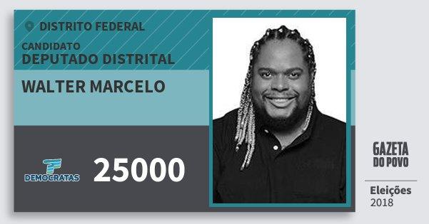 Santinho Walter Marcelo 25000 (DEM) Deputado Distrital | Distrito Federal | Eleições 2018