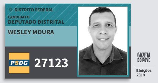 Santinho Wesley Moura 27123 (DC) Deputado Distrital   Distrito Federal   Eleições 2018