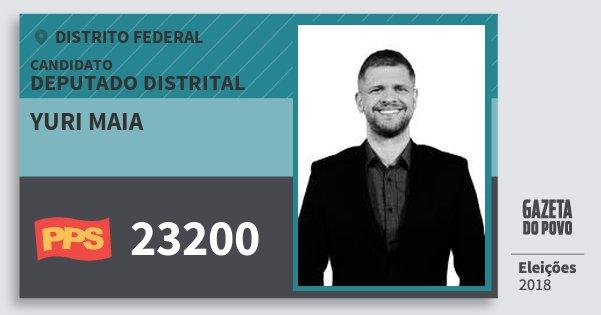 Santinho Yuri Maia 23200 (PPS) Deputado Distrital | Distrito Federal | Eleições 2018