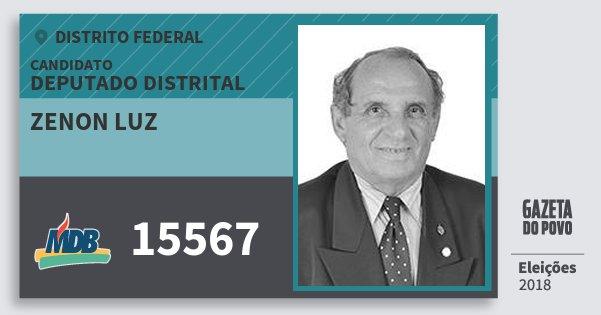 Santinho Zenon Luz 15567 (MDB) Deputado Distrital | Distrito Federal | Eleições 2018