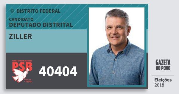 Santinho Ziller 40404 (PSB) Deputado Distrital | Distrito Federal | Eleições 2018