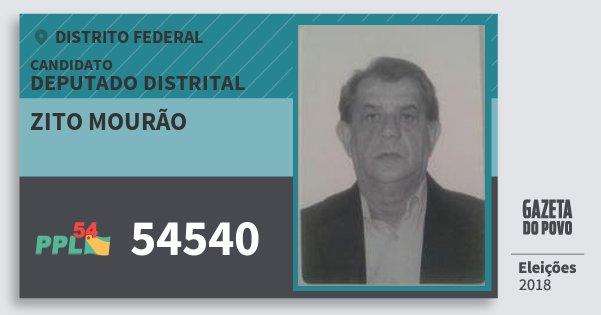Santinho Zito Mourão 54540 (PPL) Deputado Distrital | Distrito Federal | Eleições 2018