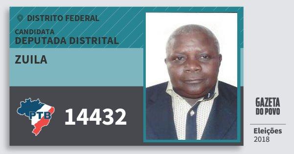 Santinho Zuila 14432 (PTB) Deputada Distrital | Distrito Federal | Eleições 2018