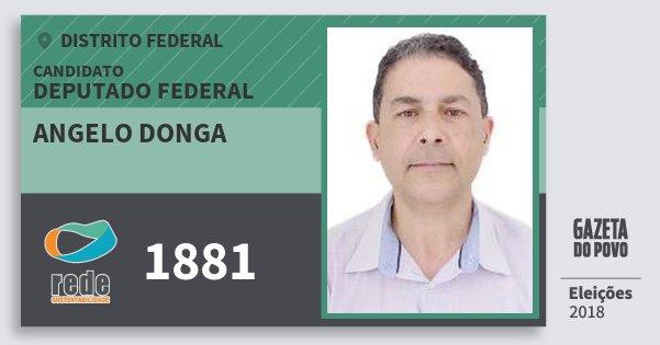 Santinho Angelo Donga 1881 (REDE) Deputado Federal | Distrito Federal | Eleições 2018