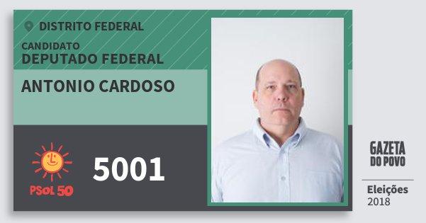 Santinho Antonio Cardoso 5001 (PSOL) Deputado Federal | Distrito Federal | Eleições 2018