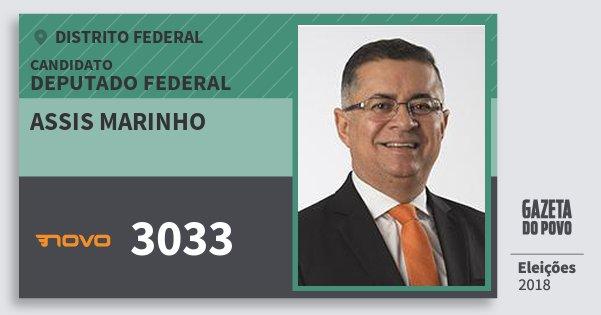 Santinho Assis Marinho 3033 (NOVO) Deputado Federal | Distrito Federal | Eleições 2018