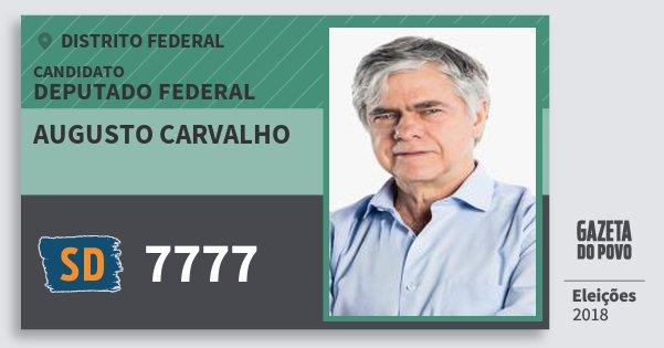 Santinho Augusto Carvalho 7777 (SOLIDARIEDADE) Deputado Federal | Distrito Federal | Eleições 2018