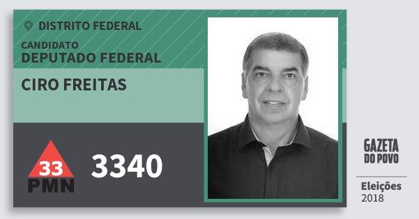 Santinho Ciro Freitas 3340 (PMN) Deputado Federal | Distrito Federal | Eleições 2018