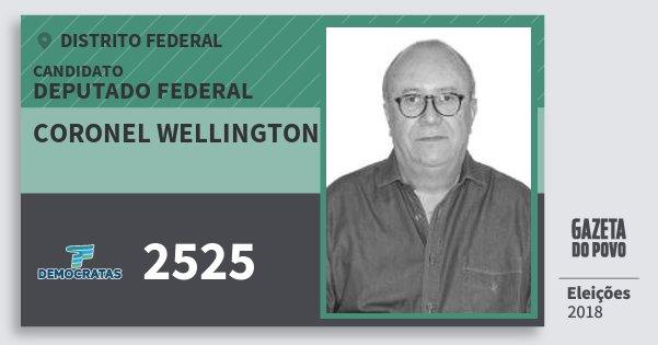 Santinho Coronel Wellington 2525 (DEM) Deputado Federal | Distrito Federal | Eleições 2018