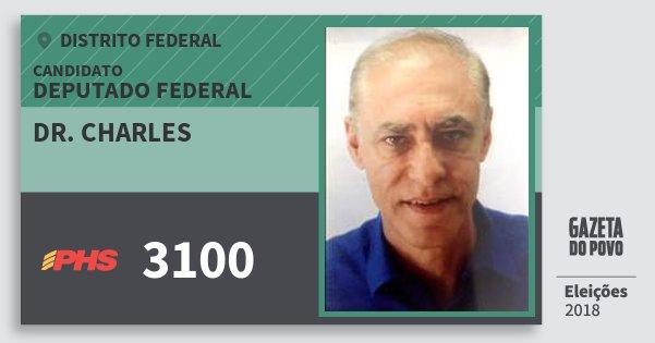 Santinho Dr. Charles 3100 (PHS) Deputado Federal   Distrito Federal   Eleições 2018