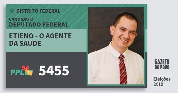 Santinho Etieno - O Agente da Saude 5455 (PPL) Deputado Federal | Distrito Federal | Eleições 2018