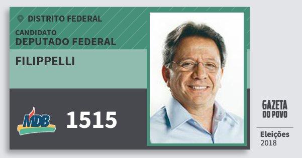 Santinho Filippelli 1515 (MDB) Deputado Federal | Distrito Federal | Eleições 2018