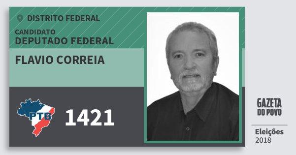 Santinho Flavio Correia 1421 (PTB) Deputado Federal | Distrito Federal | Eleições 2018
