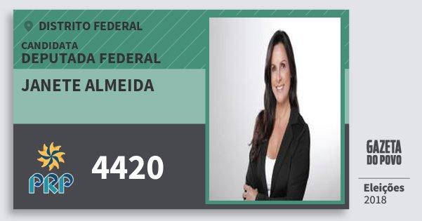 Santinho Janete Almeida 4420 (PRP) Deputada Federal | Distrito Federal | Eleições 2018