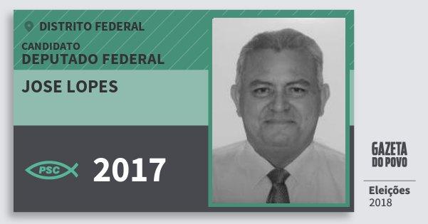 Santinho Jose Lopes 2017 (PSC) Deputado Federal | Distrito Federal | Eleições 2018