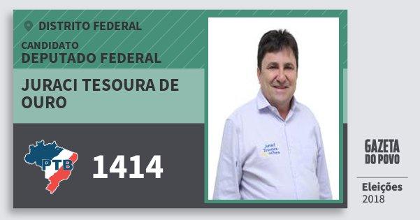 Santinho Juraci Tesoura de Ouro 1414 (PTB) Deputado Federal | Distrito Federal | Eleições 2018