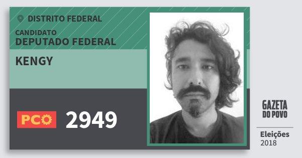 Santinho Kengy 2949 (PCO) Deputado Federal | Distrito Federal | Eleições 2018
