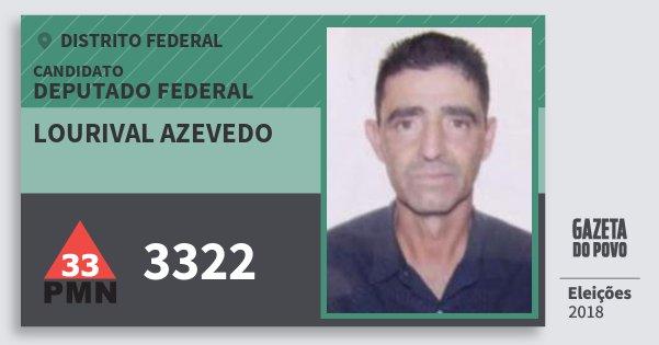 Santinho Lourival Azevedo 3322 (PMN) Deputado Federal | Distrito Federal | Eleições 2018