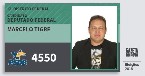 Santinho Marcelo Tigre 4550 (PSDB) Deputado Federal | Distrito Federal | Eleições 2018