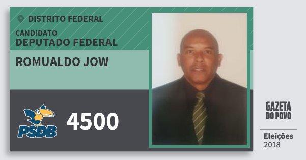 Santinho Romualdo Jow 4500 (PSDB) Deputado Federal | Distrito Federal | Eleições 2018