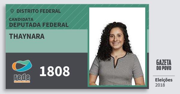 Santinho Thaynara 1808 (REDE) Deputada Federal | Distrito Federal | Eleições 2018