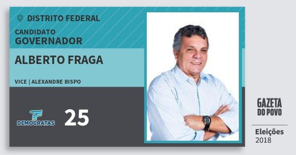 Santinho Alberto Fraga 25 (DEM) Governador | Distrito Federal | Eleições 2018