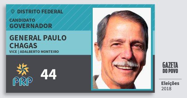 Santinho General Paulo Chagas 44 (PRP) Governador | Distrito Federal | Eleições 2018