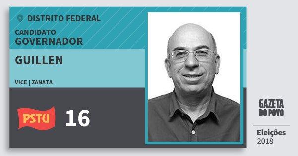 Santinho Guillen 16 (PSTU) Governador   Distrito Federal   Eleições 2018