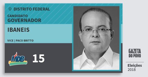 Santinho Ibaneis 15 (MDB) Governador | Distrito Federal | Eleições 2018