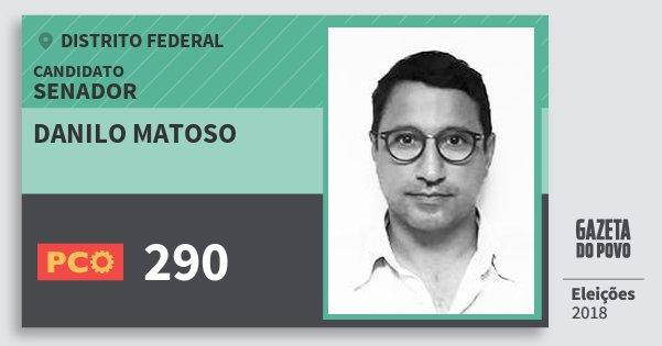 Santinho Danilo Matoso 290 (PCO) Senador | Distrito Federal | Eleições 2018