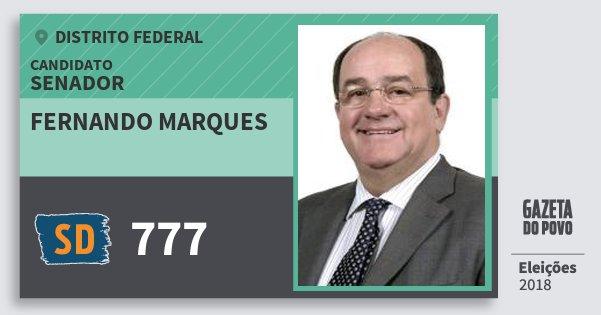 Santinho Fernando Marques 777 (SOLIDARIEDADE) Senador | Distrito Federal | Eleições 2018